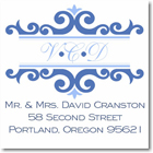 Name Doodles - Square Address Labels/Stickers (Richmond Blue)
